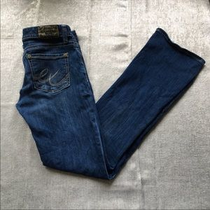 Express boot cut blue jeans size 6